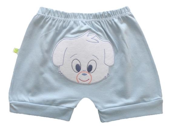 Shorts Short Bebê Menina Ou Menino Saruel Algodão P - M - G