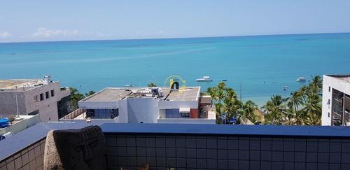 Cobertura Duplex Na Ponta Verde, Nascente, Com Área Privativa De 359 M2, 4 Quartos, Sendo, 2 Suítes, Uma Das Suítes Possui Um Gabinete E Closet, Com Ampla Varanda E Vista Para O Mar De 180 Graus, A 5