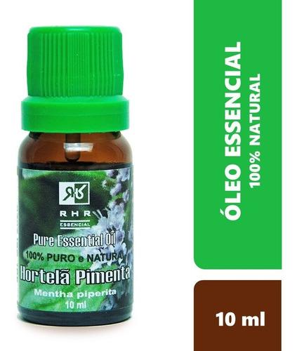 Oleo Essencial De Hortelã Pimenta 100% Puro 10 Ml - Rhr