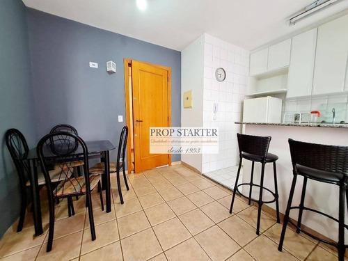 Imagem 1 de 24 de Apartamento Mobiliado Com 1 Dormitório Para Alugar, 40 M² Por R$ 2.500/mês - Consolação - Prop Starter Imóveis - Ap0798