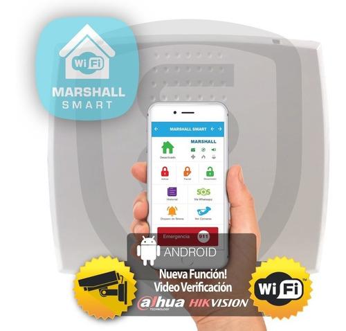 Central Alarma Inalámbrica Marshall 3 Ip Wifi Con Aplicación Para Celular Marshall Smart Alarma Domiciliaria Comercio