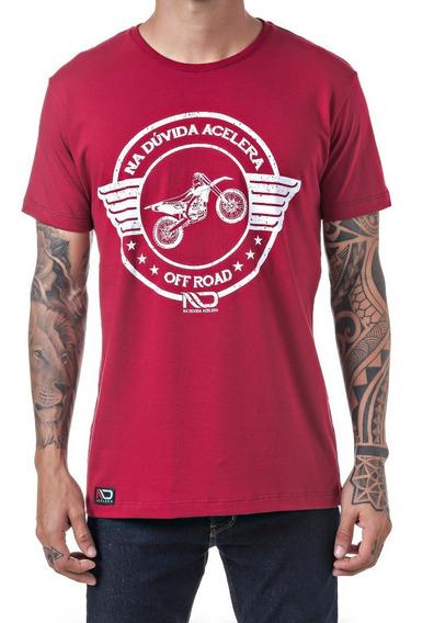 Camiseta N D Acelera - Estampa Motocross Trilha Moto Offroad
