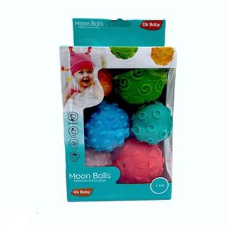 Pelotitas Texturadas Moon Balls Juguete Bebe Ok Baby @ Mca