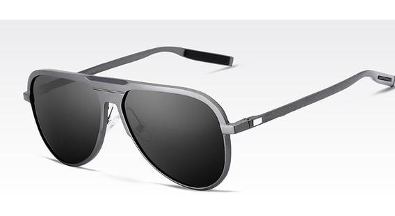 Óculos De Sol Masculino Polarizado Pequeno Escuro Estojo