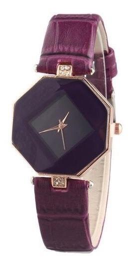 Relógio Feminino Pulseira Pedra Luxo Moda Fashion