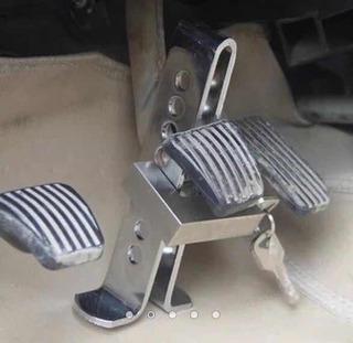Bloqueador Traba Pedal Auto Antirrobo Seguridad + Candado