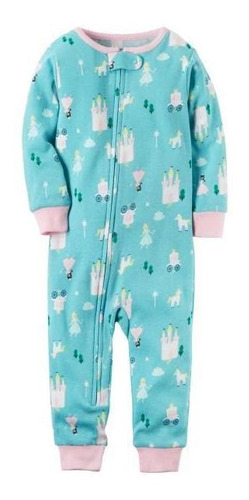 Pijama Sin Pies De Algodón Con Princesas