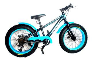 Bicicleta Niños Niñas Fat Rodado 20 Y 24 Patona Sbk Colores