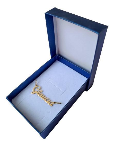 Pingente Feminino De Nome 1.3 Gramas Em Ouro 18k