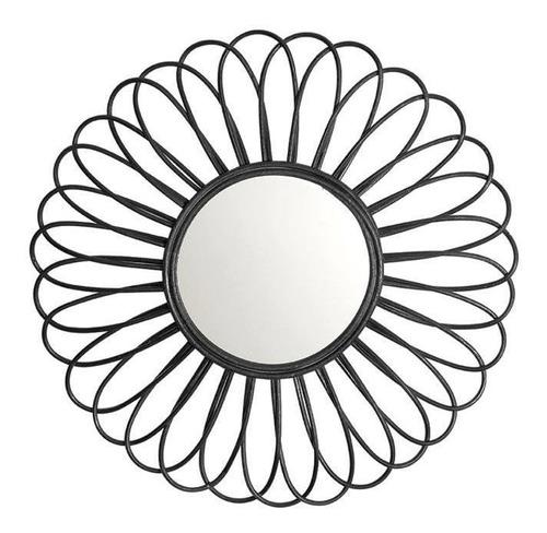 Imagem 1 de 1 de Espelho Decorativo Darlan Preto 60 Cm