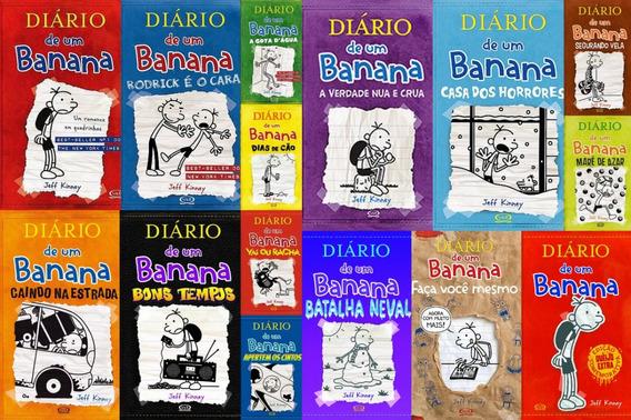 Coleção Diário De Um Banana 15 Livros 1 Ao 10 Capa Brochura