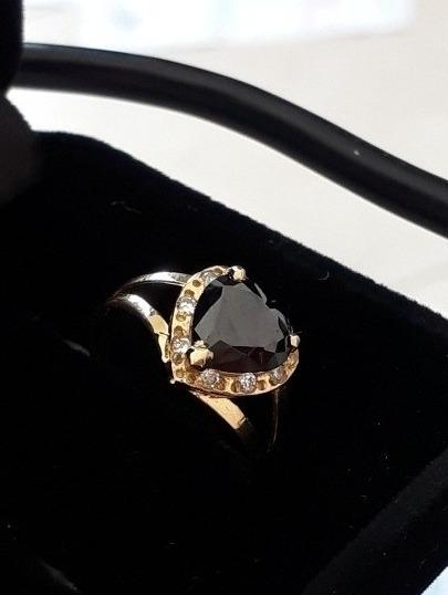 Anel Ouro 18k Com Diamantes Negro E Brancos