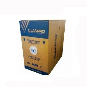 Cable Utp Categoria 5e Color Azul Lanpro 70% Bobina 305 Mts