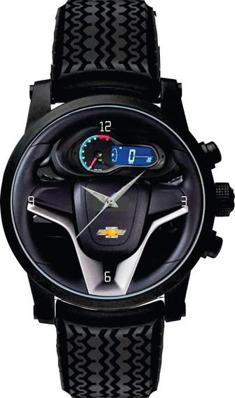 Relógio De Pulso Personalizado Volante Chevrolet Onix Pneus