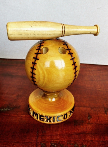 Artesanía Portalápiz Pelota Y Bate Béisbol #handcraft #craft