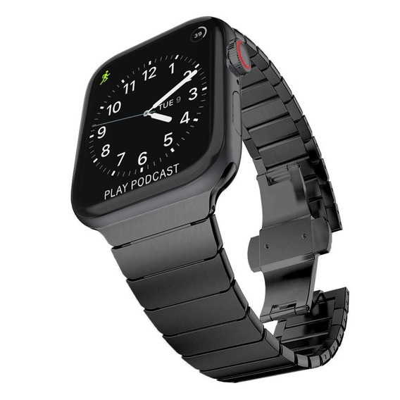 Correa De Eslabones Para Apple Watch 42-44mm Acero Metal
