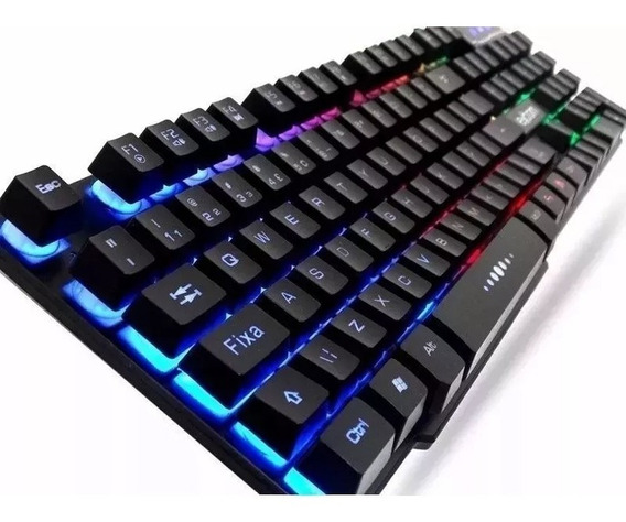 Teclado Gamer Slim Usb Fy Gk-41 Luminoso Leds Abnt #