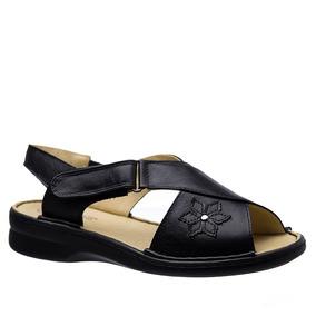 Sandália Feminina 293 Em Couro Preta Doctor Shoes