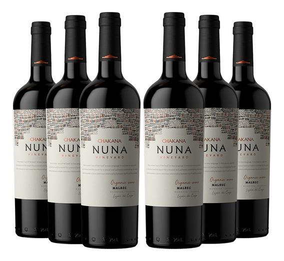 Vino Tinto Nuna Vineyard Malbec (6 X 750 Ml) Organico/bio