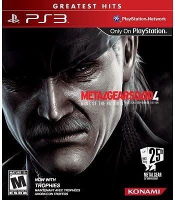 Metal Gear Solid 4 Mídia Física