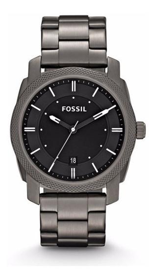 Reloj Fossil Gris Máquina Circular
