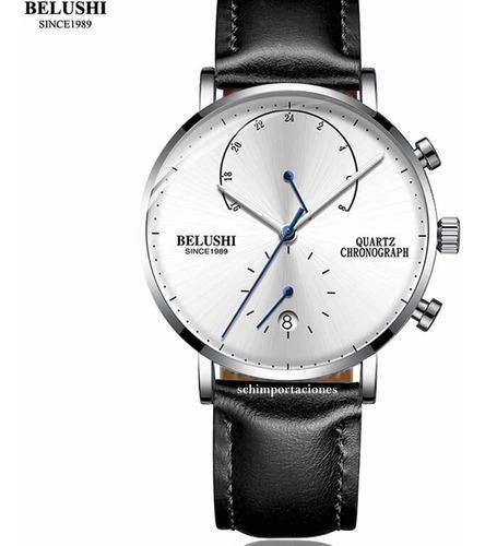 Reloj Pulsera Cuarzo Belushi - Cronometro - Calendario- Azul