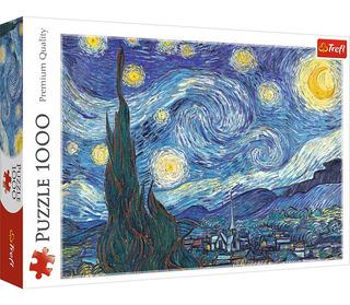Rompecabezas Trefl X 1000 Piezas - Van Gogh Noche Estrellada