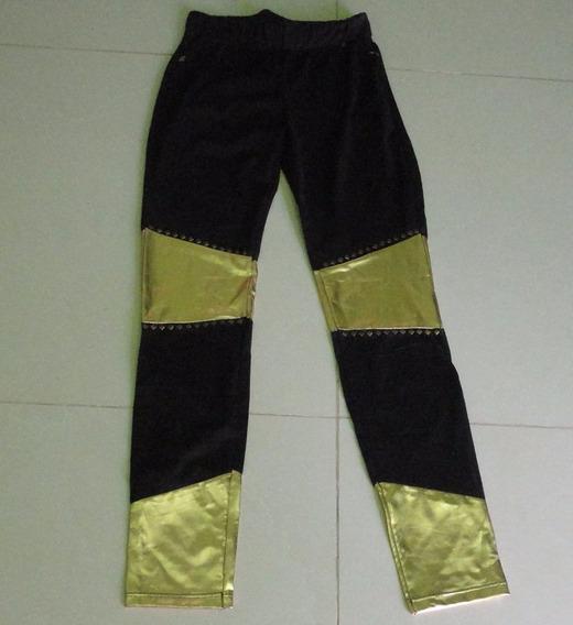 Legging Calza Negro- Dorada Térmica