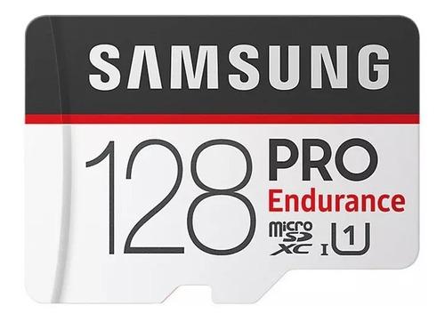 Cartão De Memória Samsung Pro Endurance 128gb Adaptador Sd