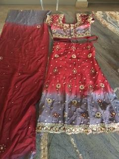 Vestido Hindu Niña Talla 3 A 4. Original. Disfraz (30)
