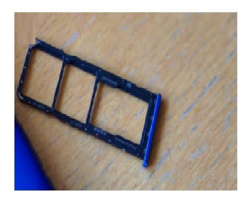 Bandeja Porta Sim Card Motorola Moto E6 Play Azul