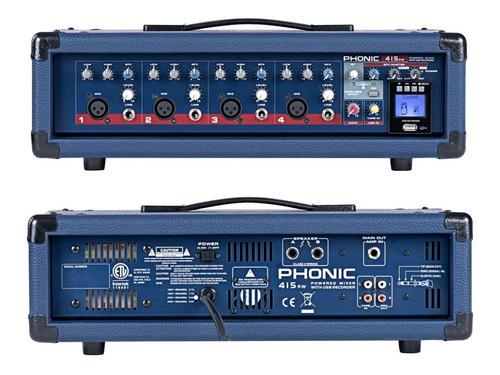 Imagen 1 de 2 de Phonic Power415 Rw Consola Potenciada 150 W 4 Canales Blueto