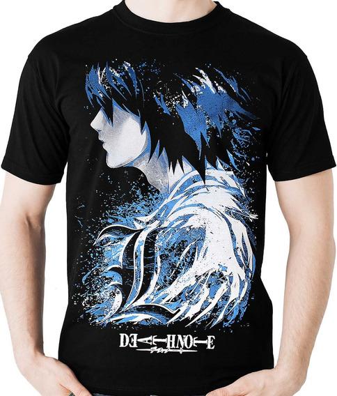 Camiseta L Death Note (nerd / Geek) Anime Camisa Blusa