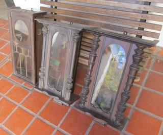 3 Antiguos Relojes De Pared Y 1 Bolsillo Para Restaurar