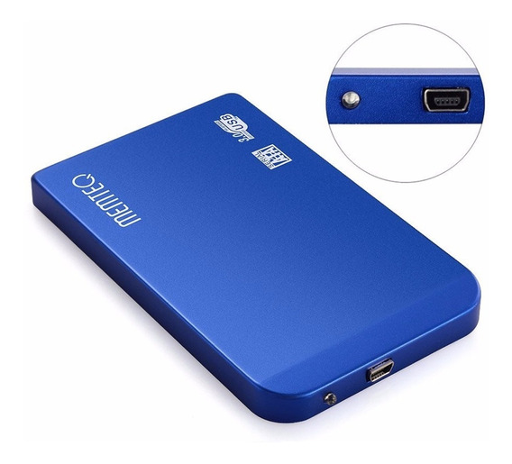 Hd Externo 500gb Slim Azul Cód 500