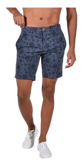 Shorts Stretch Fit Tommy Hilfiger Azul Mw0mw06132-462 Hombre