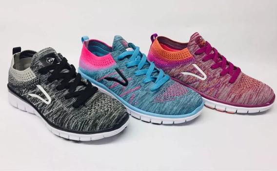 Zapatillas Mujer Runnig Dunlop Rainbowl Oferta