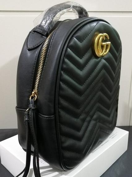 Mochila Gucci Gg Backpack Cuero Genuino (piel)