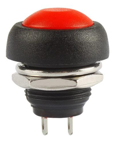Botón Pulsador Plástico Rojo 12mm