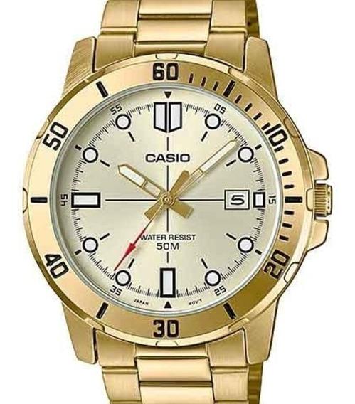 Relógio Casio Masculino Dourado Mtp-vd01g-9evudf