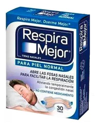 Tiras Nasales Respira Mejor Piel Normal X30 Tiras