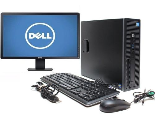 Imagem 1 de 10 de  Cpu Hp Prodesk Core I3 8gb 240gb Ssd Monitor Dell  Promoção