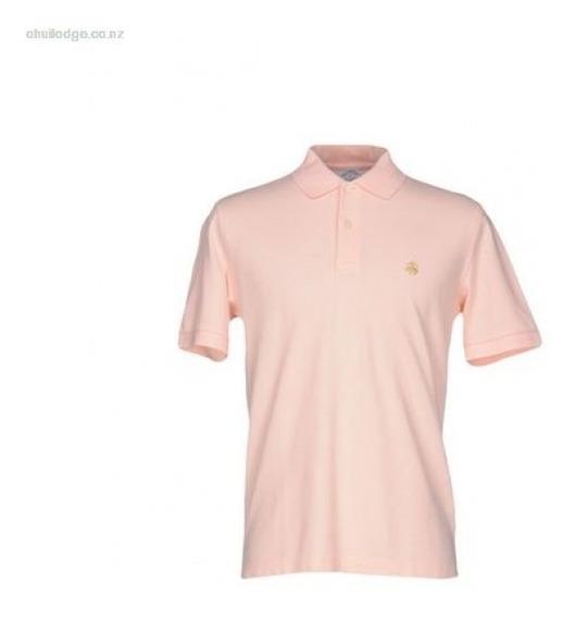 Brooks Brothers Polo Rosa Hombre Talla M Slim Fit Etiquetas