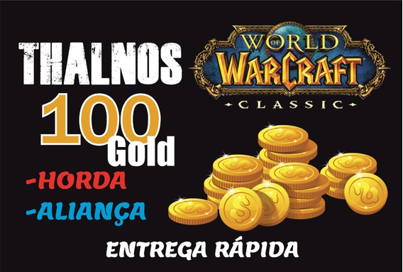 Gold Wow Classic Thalnos 100g Ouro