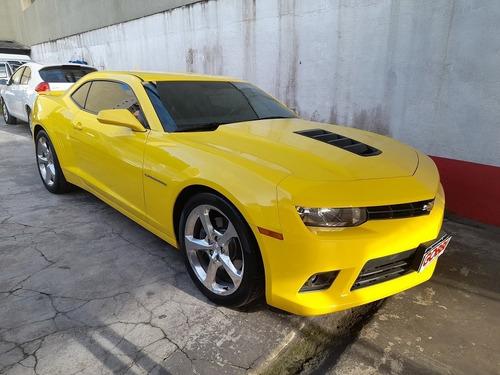 Imagem 1 de 12 de Gm / Camaro 6.2 Ss Coupe V8 2015 Amarelo