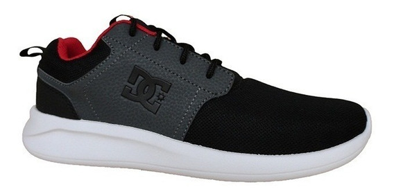 Zapatillas Dc Shoes Midway Sn (bg1) Gris Negra L19 Running