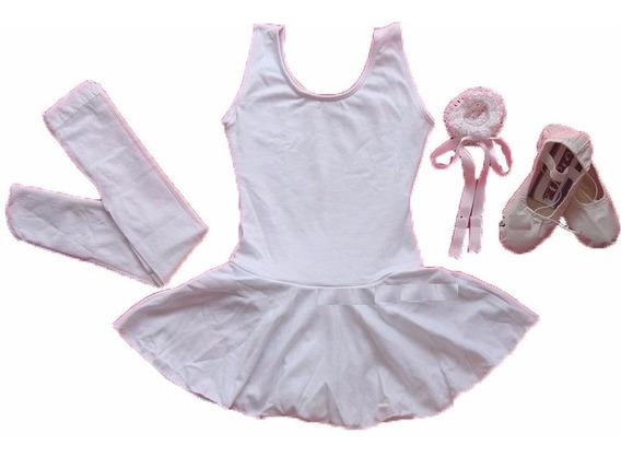 Kit Roupa Uniforme Figurino Ballet Para Aulas Infantil No Df