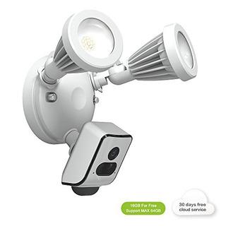 Freecam Floodlight Security Wifi Cámara Motionactivated Con