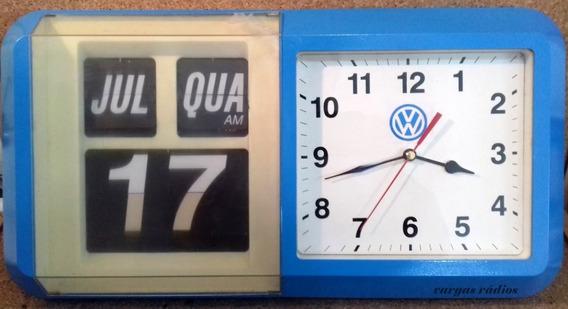 Relógio Calendário Flip Palhetas Vw Parede Funcionando