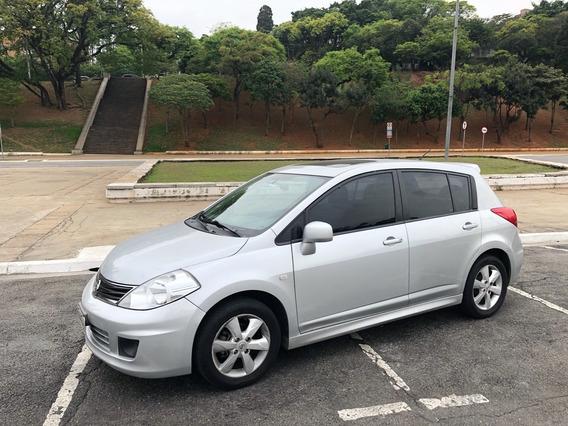 Nissan Tiida 1.8 Sl Flex 5p Manual Completo Teto Couro Prata